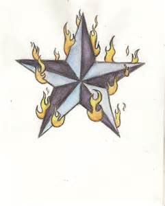 Flaming Dice and Star Drawings