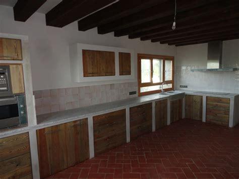 foto cocina rustica de muebles de la granja