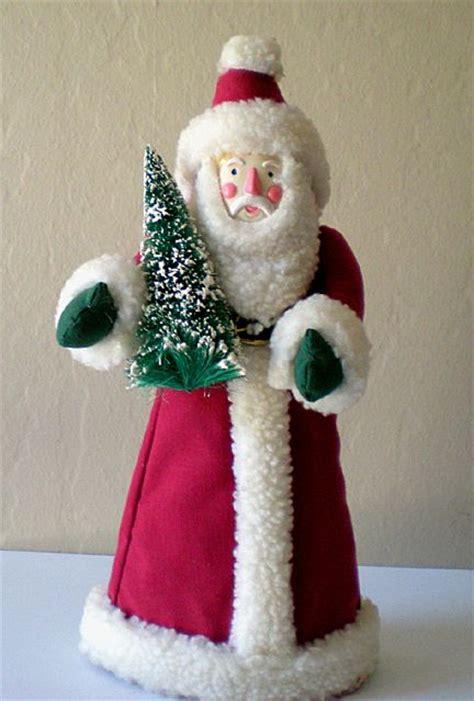 santa claus christmas tree topper folk art from