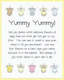 Printable Baby Shower Game Guess the Food