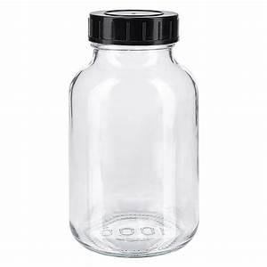 Glas Mit Schraubdeckel : 1000ml weithalsflasche klarglas mit schraubdeckel ~ Eleganceandgraceweddings.com Haus und Dekorationen