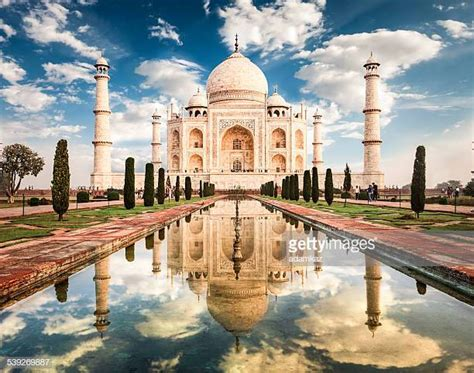 worlds  taj mahal stock pictures   images