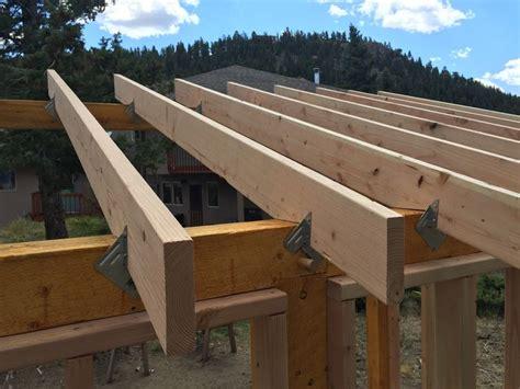 rafters  secured  hangershurricane clips
