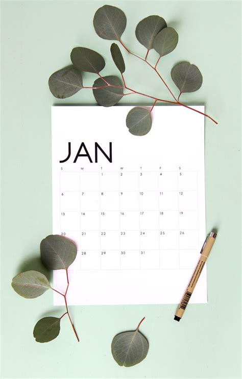 printable calendar  organized