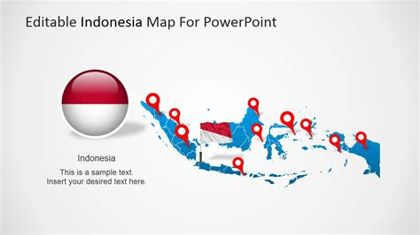 indonesia map  flag clipart slidemodel