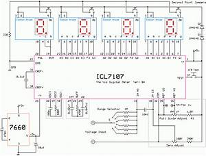 Icl7106 And Icl7107 Digital Meter Circuit