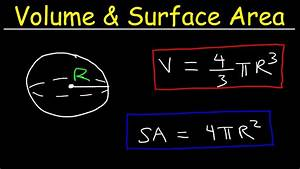 Volume And Surface Area Of A Sphere Formula  Examples
