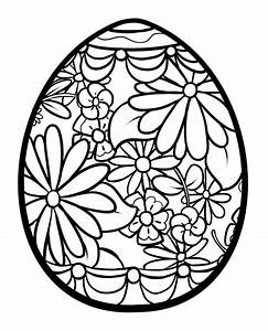 Easter Egg Coloring Pages | Bricolages de Pâques ...