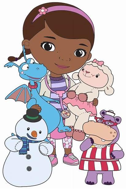 Mcstuffins Doc Clipart Characters Clip Cartoon Dr