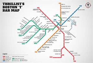Boston's first map of bars near the T - MBTA Bar Map ...