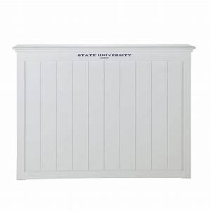 Tete De Lit Bois Blanc : t te de lit en bois blanc l 140 cm princeton maisons du monde ~ Teatrodelosmanantiales.com Idées de Décoration