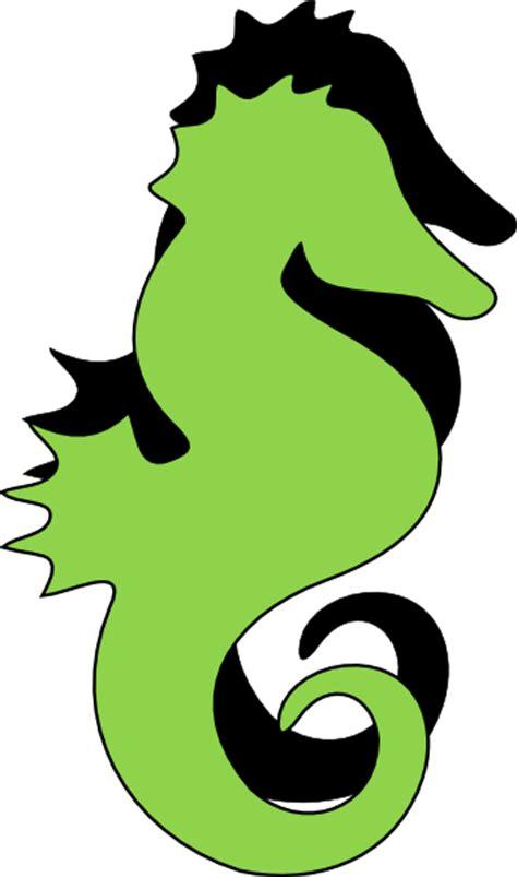 green black seahorse clip art  clkercom vector clip