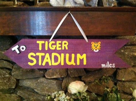 LSU Tigers To TIGER Stadium Purple Arrow Painted with ...