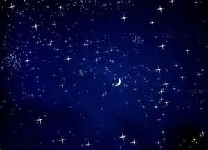Dark Blue Night Sky with Stars