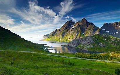 Mountain Landscape Desktop Grass Sky Lake Clouds