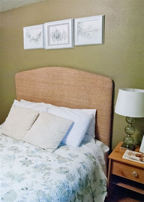 pottery barn knock off seagrass headboard
