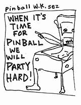 Pinball Coloring Template sketch template