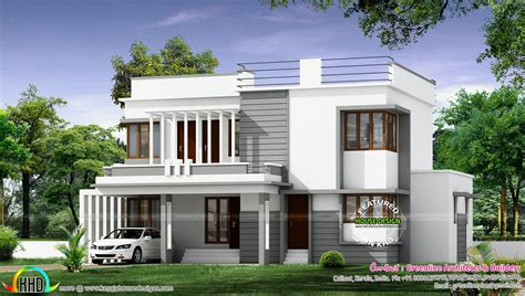 Post Modern House Plans by New Modern House Architecture Kerala Home Design And