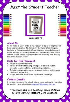 Meet The Template Meet The Student Template By Mrs Challen S