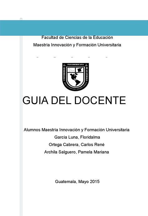 proyecto integrado guia docente mifu upana by archila issuu