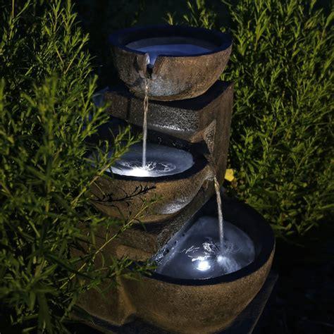 Fontaine Jardin Solaire Pas Cher by Fontaine Solaire Cascade Pierre Batterie Et Leds