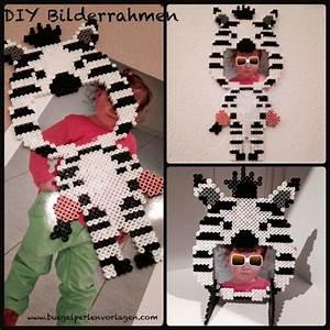 Bügelperlen Kreative Ideen : diy zebra bilderrahmen aus b gelperlen cadre en perle pinterest bilderrahmen b gelperlen ~ Orissabook.com Haus und Dekorationen