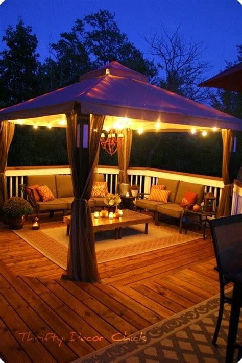 gazebo lighting on pergola decorations patio