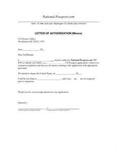 Passport Authorization Letter Sample