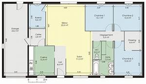 resultat de recherche d39images pour quotplan maison plain With good plan de maison 150m2 4 maison plain pied 150m2 26 messages