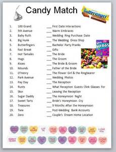 Free Printable Bridal Shower Candy Bar Game