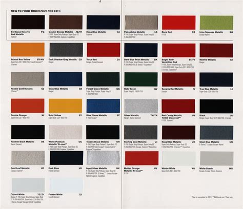 the top 20 ideas about ford paint colors best