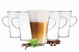 Latte Macchiato Löffel : 6 latte macchiato gl ser 400 ml mit henkel und 6 edelstahl ~ A.2002-acura-tl-radio.info Haus und Dekorationen