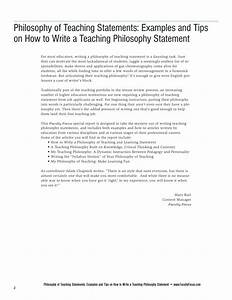 Statement Of Educational Philosophy Sample
