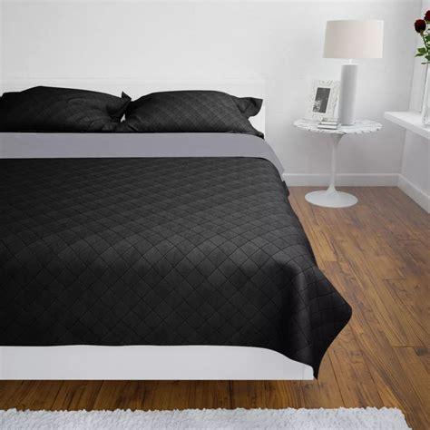 acheter couvre lits  double cotes noirgris    cm