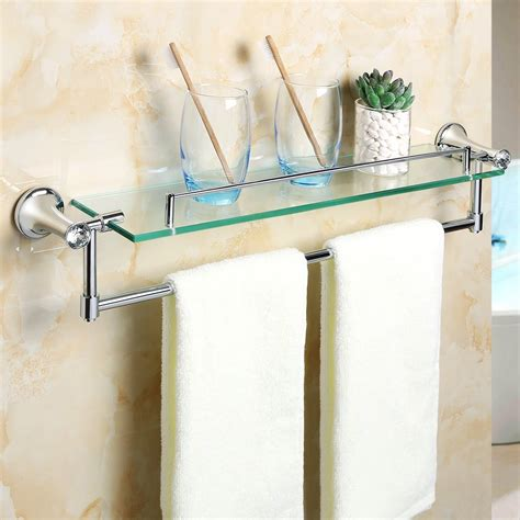 Bathroom Wall Cabinet With Towel Bar by Alise Gy8000 Glass Shelf Bathroom Shelves Towel Bar Wall