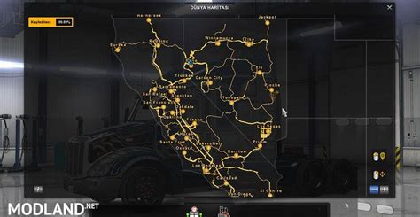 american truck kenworth 100 maps save file mod for american truck simulator ats