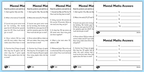 mental maths adding worksheets maths worksheet mental
