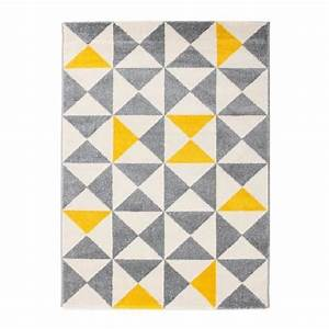 forsa tapis de salon jaune et anthracite 160x230 cm With tapis salon jaune