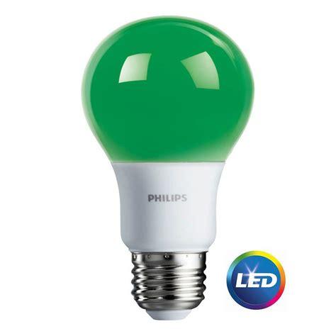 home depot lava l bulb philips 60 watt equivalent a19 led green 463224 the home