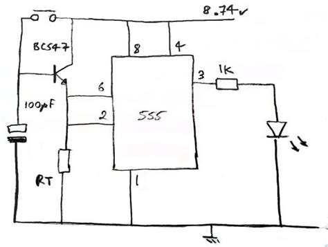 how the transistor works in this 555 circuit electrical engineering stack exchange