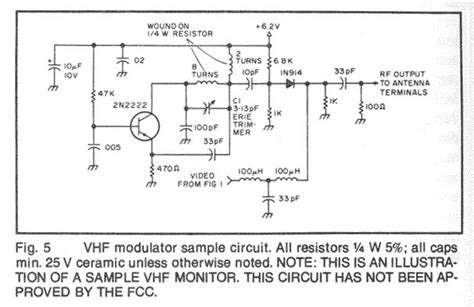 Vcr Antenna Switch Circuit Diagram by Vhf High Frequency Electronic Circuits
