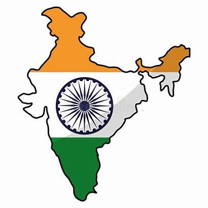 India Map Silhouette Graphic Icon Vector Illustration