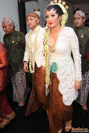 kebaya pengantin artis selebriti indonesia info top