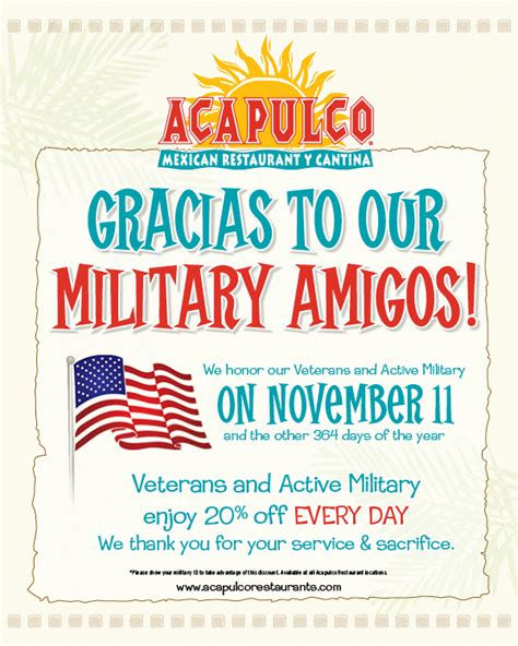 acapulco restaurants   veterans printable coupon