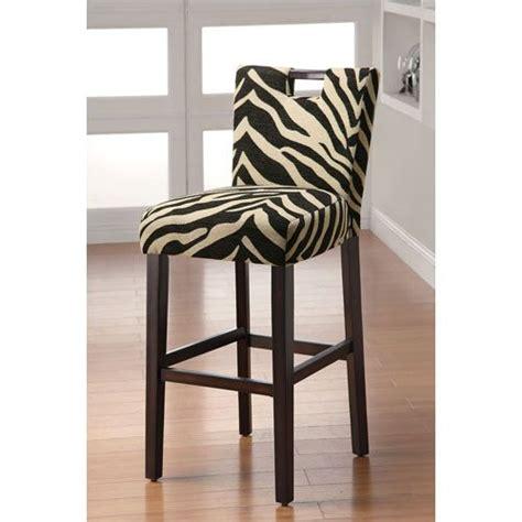 Zebra Bar Stools Zebra Print 29 Inch Upholstered Bar Stool All About The