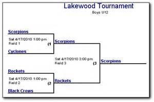 Team Pool Tournament Brackets