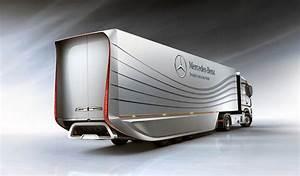 Mercedes Aero Trailer Concept Increases Semi Fuel ...