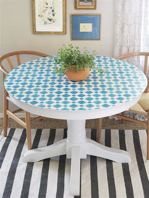 mosaic kitchen table top how to paint a mosaic table top hgtv