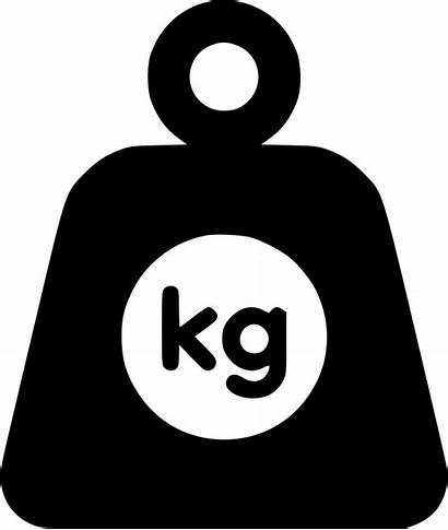 Weight Icon Clipart Kg Svg Heavy Transparent