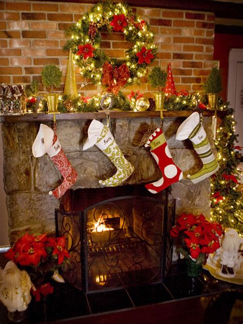 inspiring christmas fireplace mantel decoration ideas